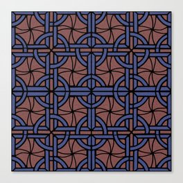 Stained Glass - Blue and Red Canvas Print