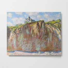 Church of Varengeville by Claude Monet, 1882 Metal Print