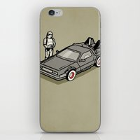 delorean iPhone & iPod Skins featuring Stormtrooper and his Delorean by Vin Zzep