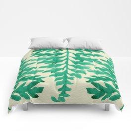 Mint Fern Comforters