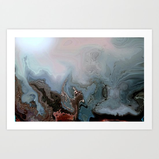 BENEATH THE DEEP BLUE SEA...ABSTRACT Art Print