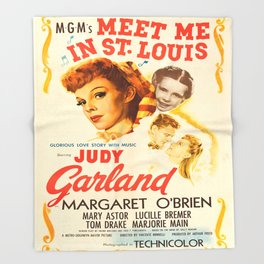 Vintage poster - Meet Me in St. Louis Throw Blanket