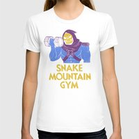 gym T-shirts featuring snake mountain gym by Louis Roskosch