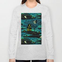 Halloween Night - Fox Fire Green Long Sleeve T-shirt