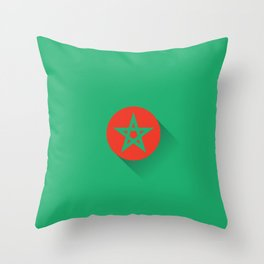 Minimal Morocco Flag Throw Pillow