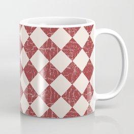 Farmhouse Checkerboard in Brick Red on Cream Coffee Mug