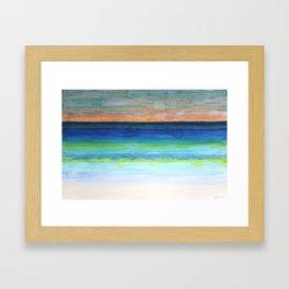 White Beach at Sunset Framed Art Print