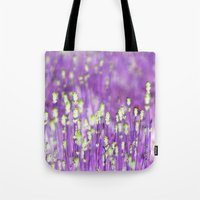 lavender Tote Bags featuring Lavender by Paula Belle Flores