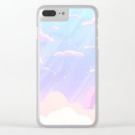 Pastel Heaven Clear iPhone Case
