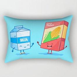 Milk and Corn (Best friends. Character set.) Rectangular Pillow