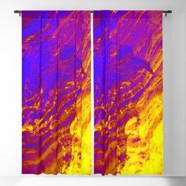 Liquid Amber Golden Waves Blackout Curtain