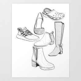 Character Shoes (Linework) Art Print