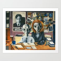X-Files - Agent Grey Art Print