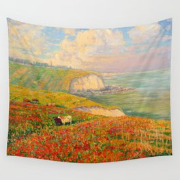 Václav Radimský (1867-1946) Normandy coast in bloom Impressionist Landscape Painting Bright Colors Wall Tapestry