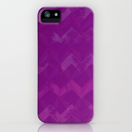 Magenta Jewel Tone and Chevrons iPhone Case