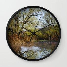 Botanical Reflection Landscape Wall Clock