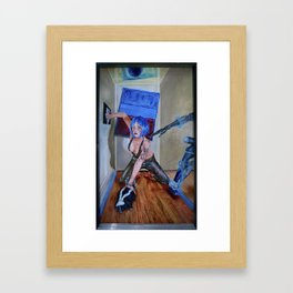 Blue Reality Framed Art Print