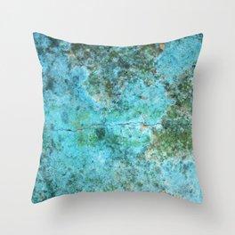 Moment of Epiphany: Aqua-Blue Version Throw Pillow