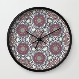 Mandala Of The Earth Wall Clock