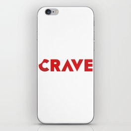 Crave The Type iPhone Skin