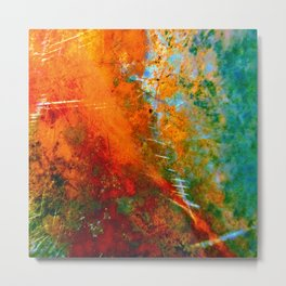 Turquoise and Copper 1776 Metal Print