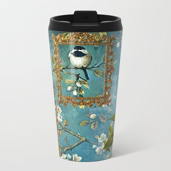 Blue, Birds, Balloon and Botanics Metal Travel Mug