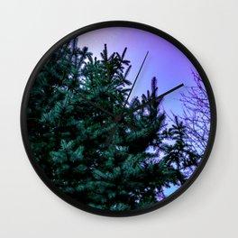 Purple Pine Wall Clock
