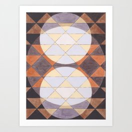 Triangles and Circles Pattern no.24 Art Print