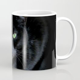 When A Black Cat Hearts Your Path Coffee Mug
