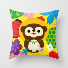 Tanuki Throw Pillow