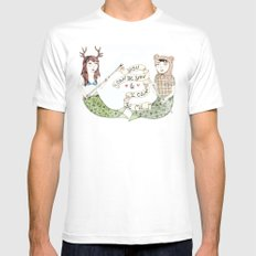 You Can Be You MEDIUM White Mens Fitted Tee