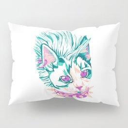 Punk Cat Pillow Sham