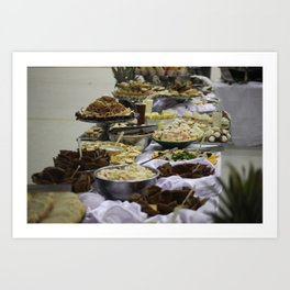 Catered Foods Art Print