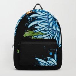 Blue chrysanthemum Backpack