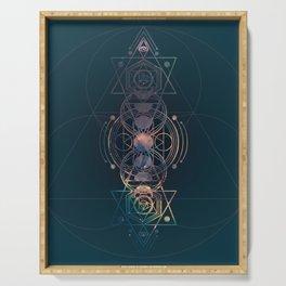 Dark Moon Phase Nebula Totem Serving Tray