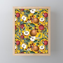 Vintage Fruit Pattern V Framed Mini Art Print