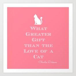 Dickens Cat Quote Art Print