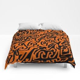 Laberinto ocre black Comforters