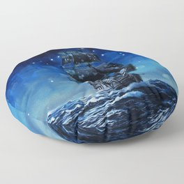Black Pearl Starry Night Floor Pillow