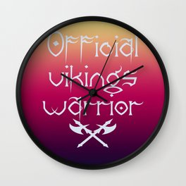 Official vikings warrior1 Wall Clock