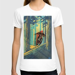 RETRO MOUNTAIN BIKE POSTER LOG JUMPER T-shirt