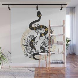 Snake Hand Wall Mural