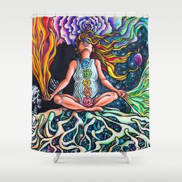 Goddess Rising Shower Curtain