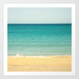 Beach,Sea & Sky - abstract Art Print