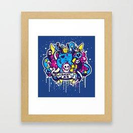 Unlucky Kitty Framed Art Print
