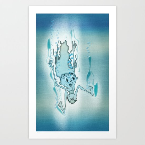 Blue Turquoise Art Print