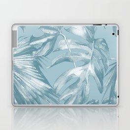 Island Dream Teal Palm Leaves Laptop & iPad Skin