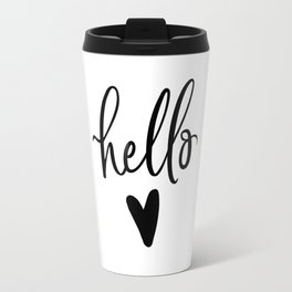 HELLO LOVE by DearLilyMae Travel Mug