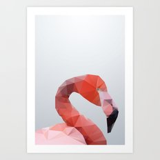 Geometrical - Flamingo Art Print