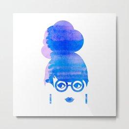 Curious Blue Metal Print